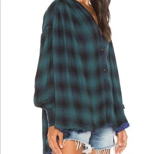 Free People Come On Over Plaid Tunic XS